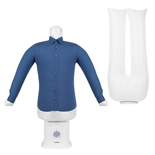 Klarstein ShirtButler Deluxe automatisches Trocken- und Bügelgerät, 2-in-1: Trocknen und bügeln, 1250 W Sicherheits-Heizer, HotAir Tension-Technologie, Timer: 0-180 Min. Material: Oxford-Nylon, weiß