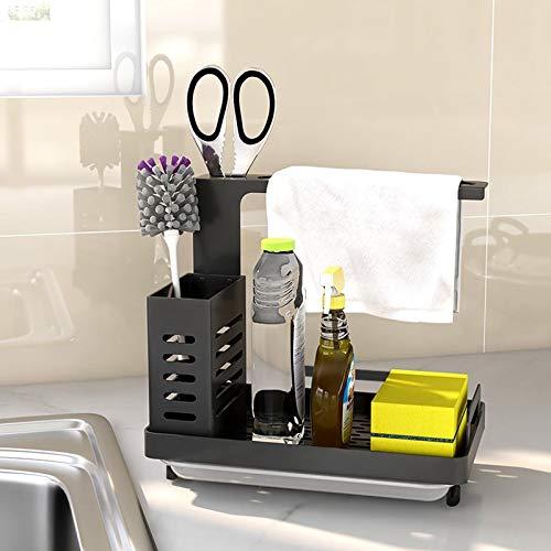 Byoauo Spülbecken Organizer, Küchen Organizer fur Aufbewahrung Küche 304 Edelstahl Küchen Zubehör (-22)