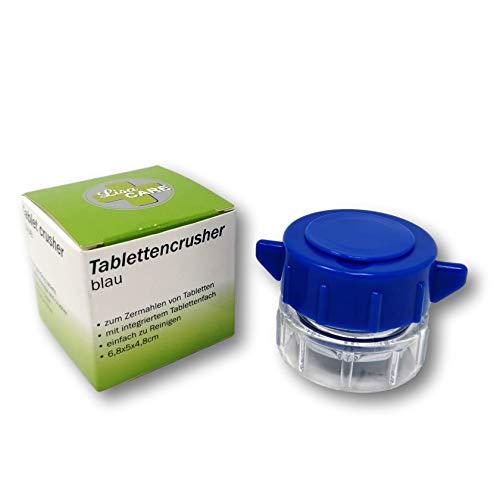 LisaCare Tablettenmörser drehen & Tabletten zerkleinern - Pillendose klein im Deckel - Pill crusher - Medikamenten-Mörser