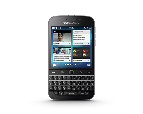 Blackberry Classic 4 g Smartphone Unlocked (3,5 Zoll) Display, 16 GB, Single SIM Blackberry, Schwarz die Tastatur, AZERTY