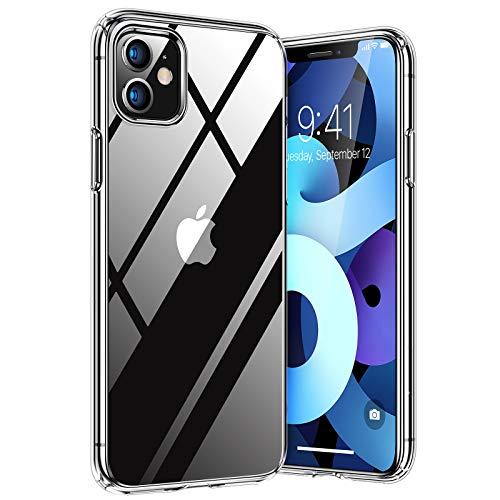 TORRAS Diamond Series für iPhone 11 Hülle Extrem Transparent (Vergilbungsfrei) Starke Stoßfestigkeit Schutzhülle Hard PC Back und Soft Silikon Bumper Handyhülle für iPhone 11- Durchsichtig