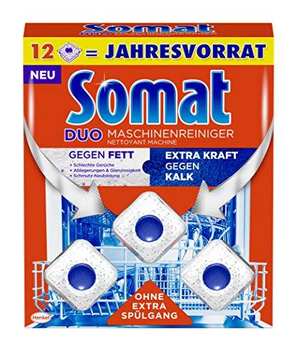 Somat Maschinenreiniger Tabs, Maxipack, 12 Stück, hygienisch und sauber, ohne extra Spülgang, gegen Fett und Kalk