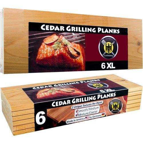 Dominion Grilling Co. 6 XL Grillbretter/Grillplanken aus Zedernholz in ÜBERLÄNGE – 6er Pack