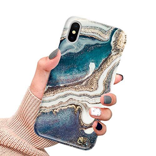 CXvwons Hülle für iPhone XR, Ultra dünn Weich TPU Silikon Handyhülle Mode Chic 3D Muster Schutzhülle Case für iPhone XR Slim Kratzfeste Stoßfest Schutz Tasche Schale für iPhone XR Bumper Cover