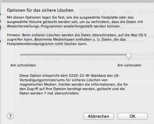 Festplatte löschen - wie sicher darf's denn sein? Je sicherer, desto länger dauert's. (Bildrechte: FRAGDENSTEIN.DE/ Stein)