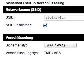 Die SSID ist der Name eines Netzwerkes. Wenn sie nicht gesendet wird, macht man sein WLAN unsichtbar. (Bildrechte: Stein)