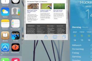 Bei iOS 7 ist das Beenden einer App deutlich komfortabler als bei den Vorgänger-Versionen. (Bildrechte: FRAGDENSTEIN.DE/ Stein)