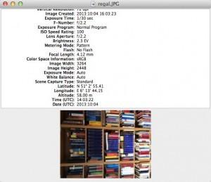Programme wie Exifviewer zeigen alle Exif-Daten einer Bilddatei an. (Bildrechte: FRAGDENSTEIN.DE/ Stein)