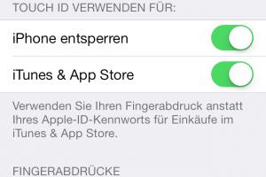 Einen gespeicherten Fingerabdruck im iPhone kann man auch löschen. (Bildrechte: FRAGDENSTEIN.DE/ Stein)