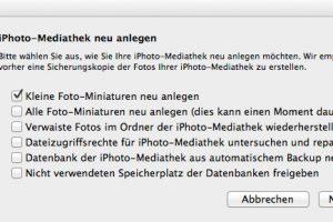 Mit wenigen Handgriffen kann man die iPhoto Library neu anlegen (Bildrechte: FRAGDENSTEIN.DE/Stein)