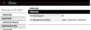 """Wer einen Speedport Router aktualisieren will, der sollte die Funktion """"EasySupport"""" aktivieren. (Bildrechte: FRAGDENSTEIN.DE/Stein)"""