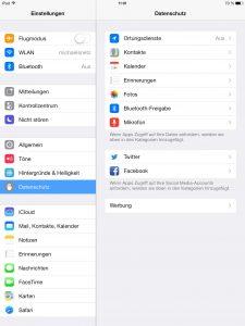 Darf eine App die Ortungsdienste benutzen? (Bildrechte: FRAGDENSTEIN.DE/ Stein)