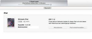 Mit iTunes können Sie auf auf Ihrem iPad oder iPhone das neue iOS 8 mit wenig freiem Speicher installieren. (Bildrechte: FRAGDENSTEIN.DE/ Stein)