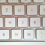Die Tastatur - nachher.