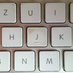 Die Tastatur - vorher.