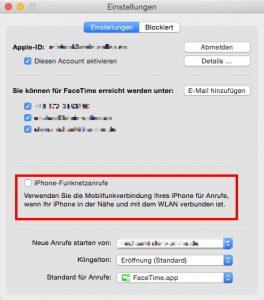 Am Mac werden iPhone-Anrufe direkt im Programm Facetime ein- und ausgeschaltet. (Bildrechte: FRAGDENSTEIN.DE/ Stein)