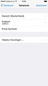 Die neue Sprache erscheint in der Liste der Tastaturen. (Bildrechte: FRAGDENSTEIN.DE/ Stein)