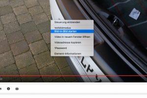 Videos anschauen macht mit der Funktion Bild im Bild beim Mac gleich noch mal so viel Spaß. Man muss nur wissen, wie man sie startet. (Bildrechte: FRAGDENSTEIN.DE/ Stein)