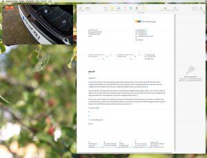 Das Bild im Bild beim Mac kann nur in einer der vier Bildschirmecken platziert werden. (Bildrechte: FRAGDENSTEIN.DE/ Stein)