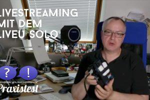 Livestreaming mit dem LiveU Solo - wie gut klappt das? (Bildrechte: FRAGDENSTEIN.DE/ Stein)