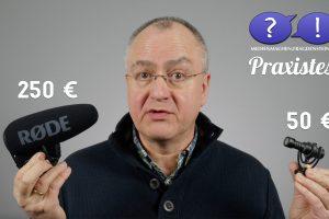 Rode VideoMic Pro+ oder VideoMicro? (Bildrechte: FRAGDENSTEIN.DE/ Stein)